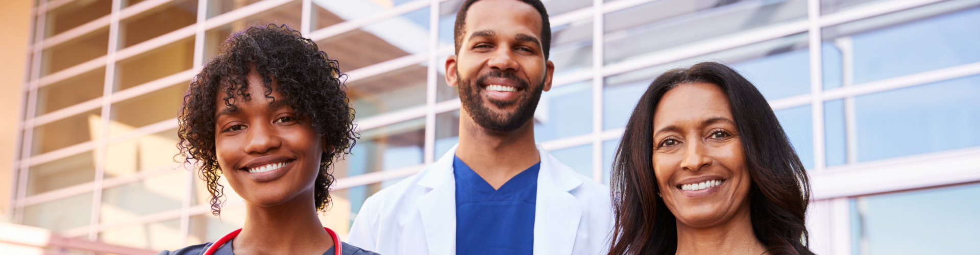 group of doctors smiling